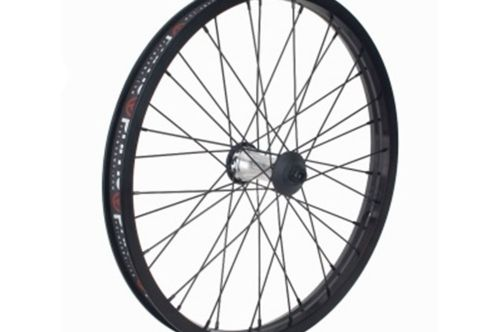 "Primo VS N4 Flangeless V2 Front Wheel - Oil Slick Hub With Black Rim 10mm (3/8"")"